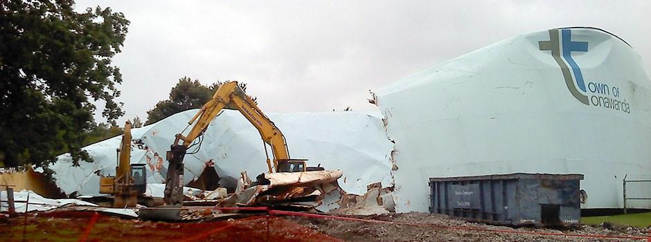 Storage Tank Demolition : Asbestos removal and demolition by regional environmental